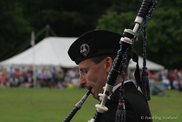 Piping at Strathmore Highland Gathering