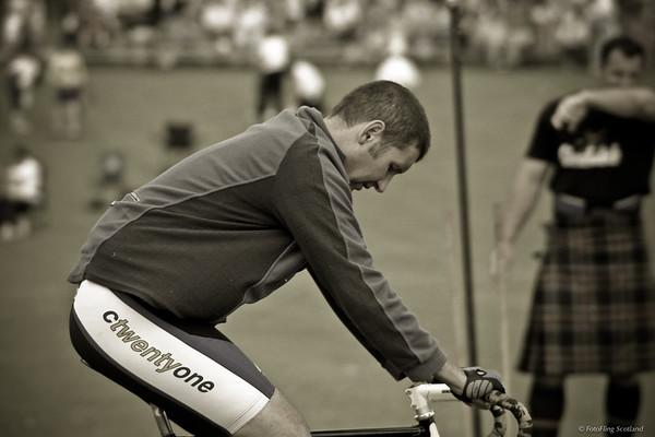 Cyclist ponders