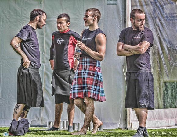 Off Duty Scottish Backhold Wrestlers