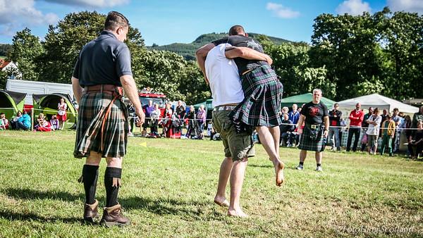 Backhold Wrestling at Aberfeldy Highland Games 2014