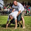 Rear Backhold Wrestling Action