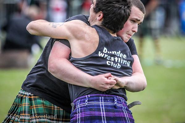 Backhold Grip Scottish Backhold Wrestling at Helensburgh Highland Games 2012