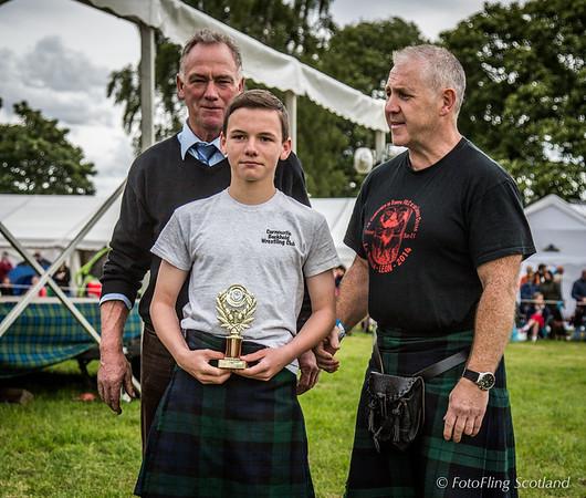 Junior Backhold Wrestling Prize Winner: Dean Whyte - Best Junior Wrestler of the Games