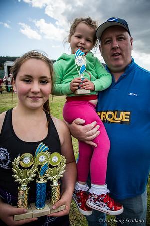 Backhold Wrestling Junior Prize Winners at Aberfeldy Highland Games 2014