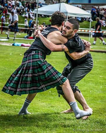 Backhold Wrestling at Bute Highland Games