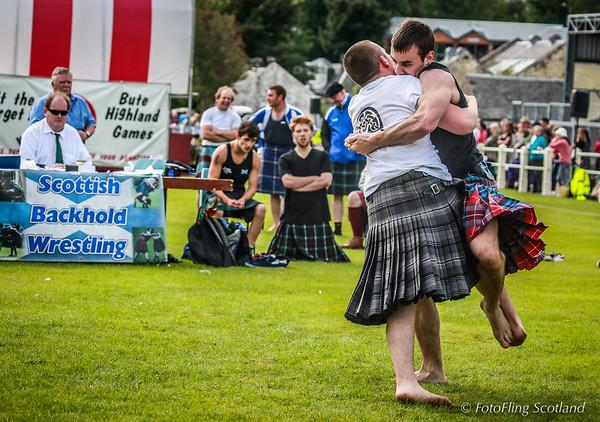 Scottish Backhold Wrestling at Bute Games