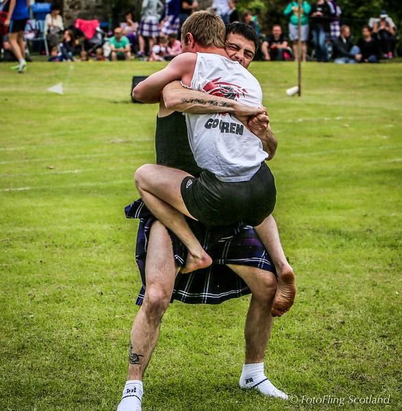 Scottish Backhold Wrestlers - David Blair and John Dolan