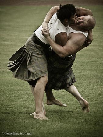 John Taylor wrestling at Cowal