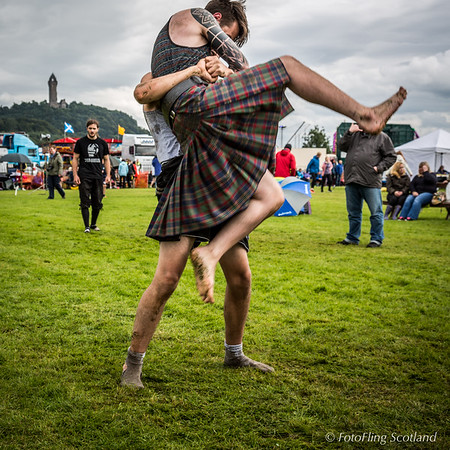 Cameron Horne and Luke McMahon at Bridge of Allan Highland Games 2015