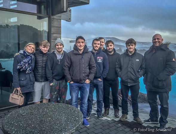 Wrestling/Glima Team at The Blue Lagoon