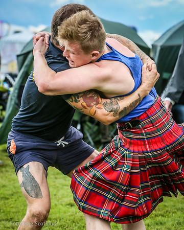 Backhold Wrestling at Bridge of Allan Highland Games 2014