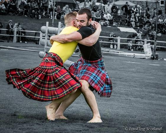 Scottish Backhold Wrestlers: Ryan Ferrey and Paul Craig  (facing camera)