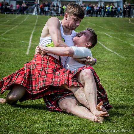 Kilted Wrestlers at Loch Lomond