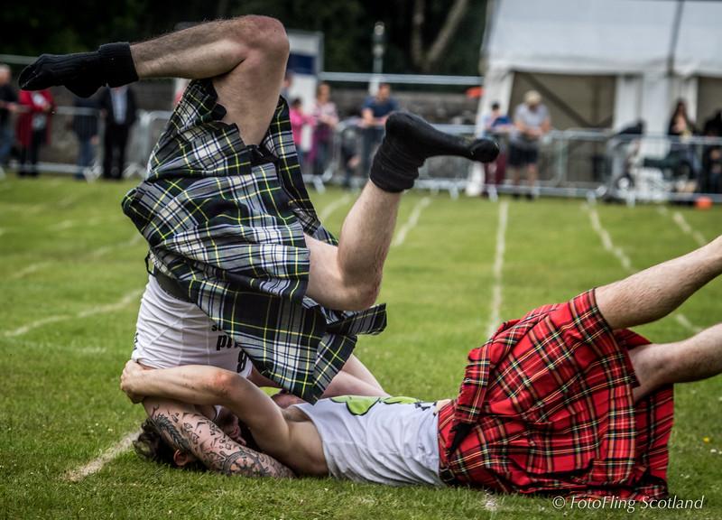 Scottish Backhold Wrestling at Balloch, Loch Lomond {Scott Carson & Ryan Ferrey}