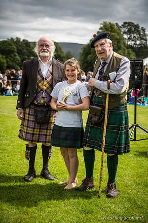 Backhold Wrestling Junior Prizewinner, Lily Hirsch - Inveraray Games 2015