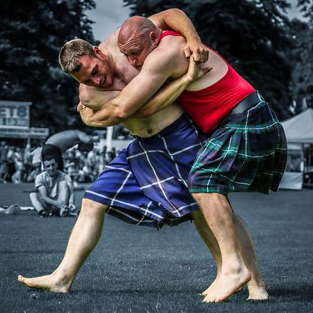 Scottish Backhold Wrestling at Inveraray (Frazer Hirsch & Zane Grey)