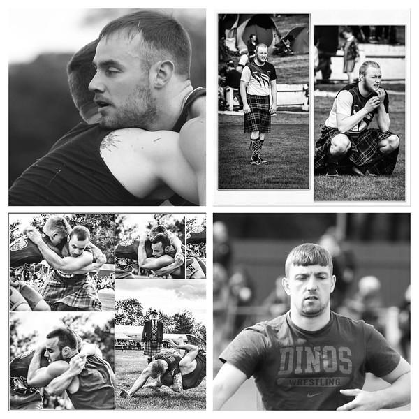 Backhold Wrestling Collage