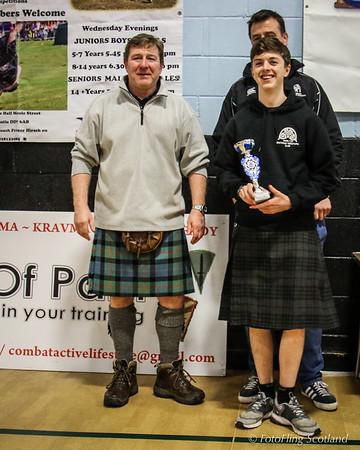 Sam McRory of Hamilton Wrestling Club  - 2nd 10st 7lbs Category