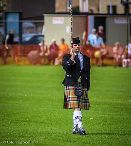 Drum Major<br /> Inverkeithing Games 2001