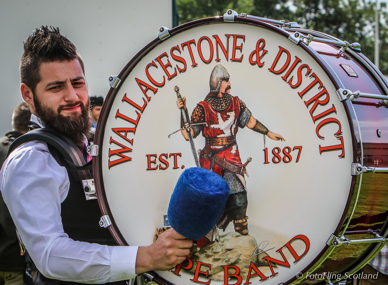 Wallacestone & District Pipe Band Drummer