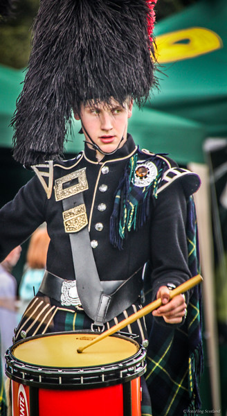 Young Kilted Drummer