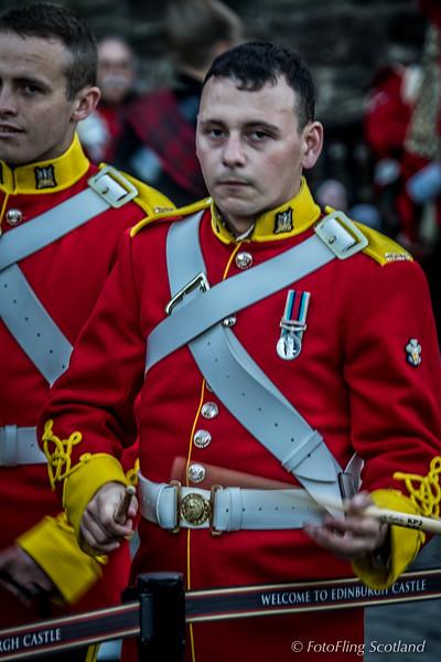 Drummer - pre-show 2015 Edinburgh Military Tattoo