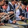 Drummers in combat