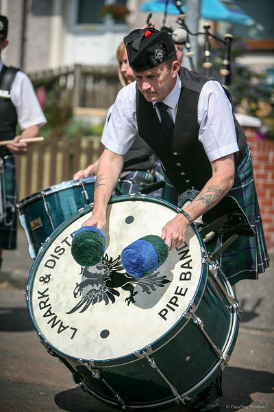 Lanark & District Pipe Band Drummer