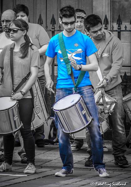 Blue Boy Drummer