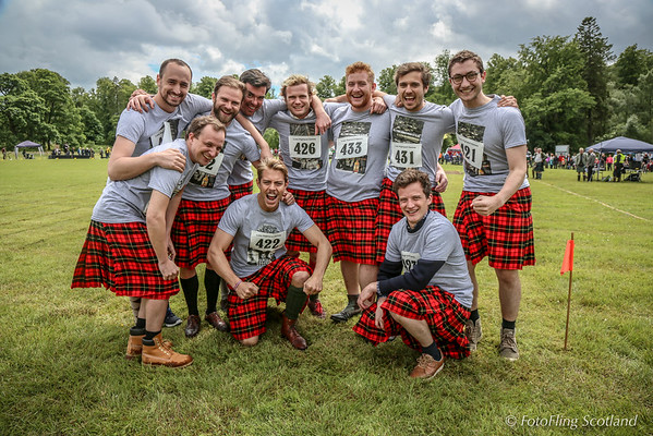 French Kilted Tug O' War Team