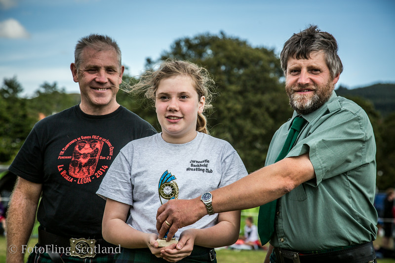 Backhold Wrestling Junior Prize Winners at Aberfeldy Highland Games 2014