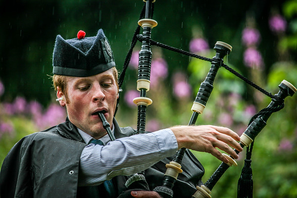 Ear Plugs in the Rain! Birnam Highland Games 2012