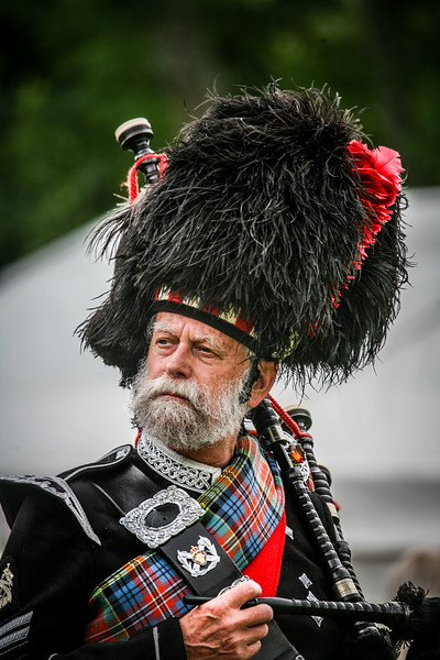 Dignity Drum Major of Blairgowrie and Rattray Pipeband at Birnam Highland Games 2012