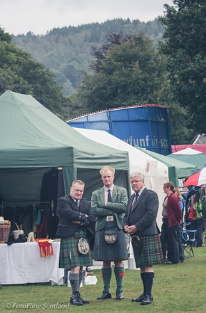 Doom and Gloom! Cheery Kilties at Birnam Highland Games 2012