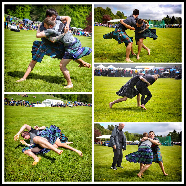 Backhold Wrestling at Blair Atholl Highland Gathering