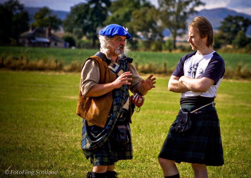 Conversation Blairgowrie Highland Games 2003