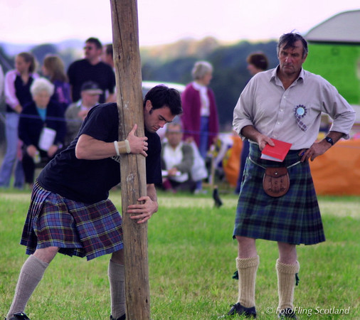 Positioning the caber