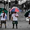 Three Heavies in the rain
