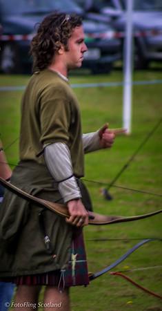 Kilted Archer Pitlochy Highland Games 2003