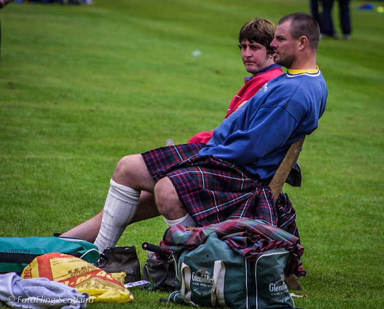 Just Resting Gregor Edmunds at Pitlochy Highland Games 2003