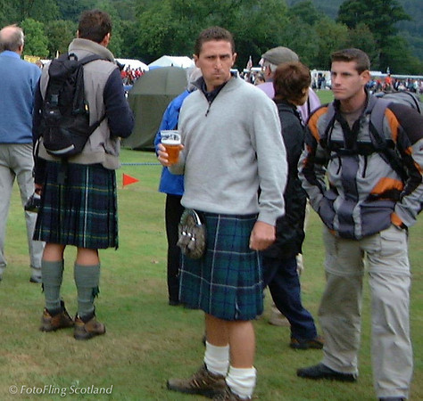 Tourists Pitlochy Highland Games 2003