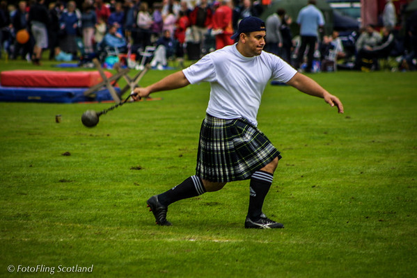 Heavy swings his ball and chain Pitlochy Highland Games 2003