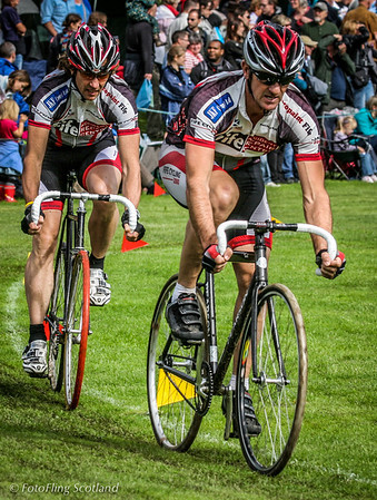 Cyclists<br /> Pitlochry Highland Games 2010
