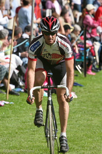 Cyclist Pitlochry Highland Games 2010
