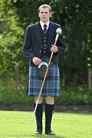 Alasdair MacDonald, <br /> Drum Major, Beauly Firth and Glens Pipeband<br /> Pitlochry Highland Games 2010