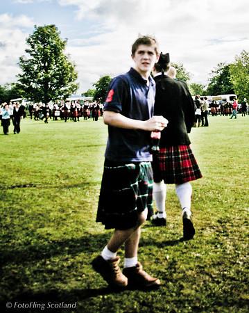 Kilted Spectator<br /> Pitlochry Highland Games 2010