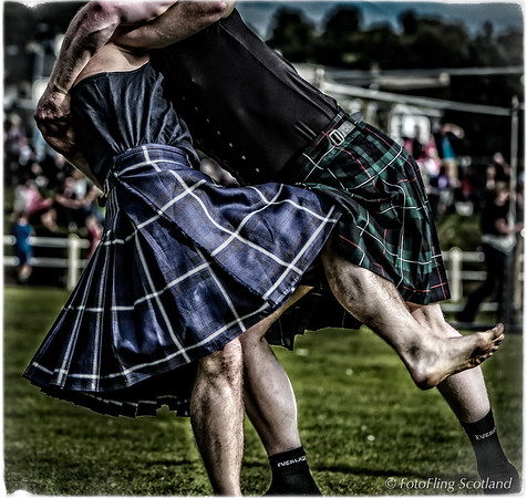 Scottish Backhold Wrestling at Bute Games
