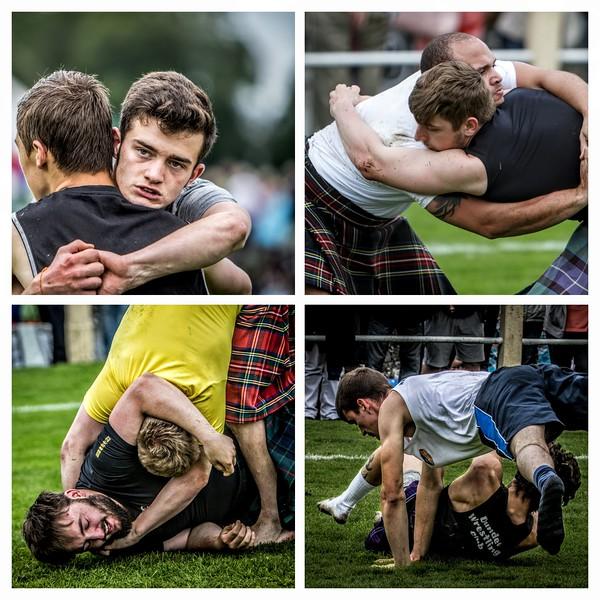 Scottish Backhold Wrestlers: Jack Brown & George Reid