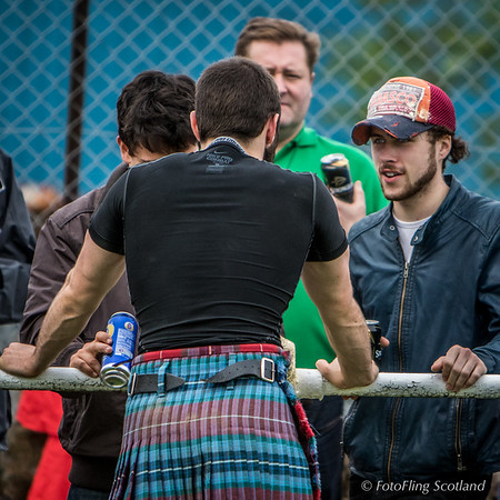 Wrestler Paul Craig chats to his spectator fans
