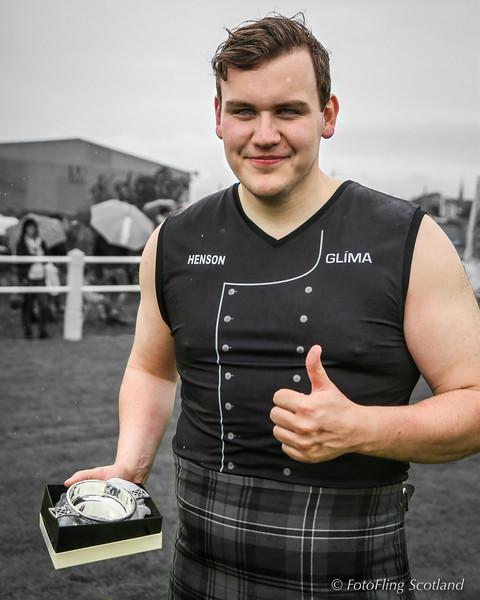 Ásmundur Hálfdán Ásmundsson (Iceland) Backhold Wrestling Champion